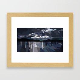 San Juan Islands: Storm Passing Framed Art Print