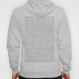 Web Design Keywords Poster. Grey. Hoody