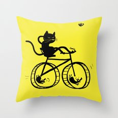 Slaved mouses Throw Pillow