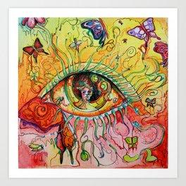 Butterfly Window Art Print