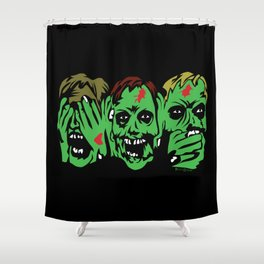 3 Zombies Shower Curtain