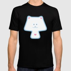 YippyMew Mens Fitted Tee Black MEDIUM