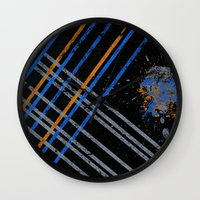 grid Wall Clocks featuring Grid by Last Call