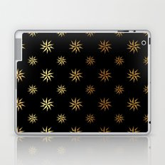Black Gold Stars Laptop & iPad Skin