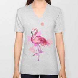 Pretty Flamingo Unisex V-Neck