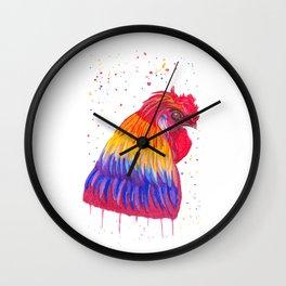 Le Coq flamboyant Wall Clock