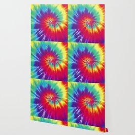 Tie Dye Swirl Pattern Wallpaper