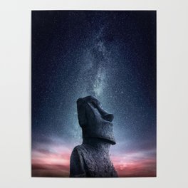 Moai statue Poster