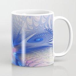 Fantasy With Blue, Abstract Fractal Art Coffee Mug