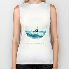 Surf Quote Biker Tank