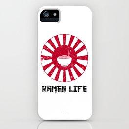 Ramen Life Japanese Noodles Lover Vintage Retro Style Japan Flag iPhone Case
