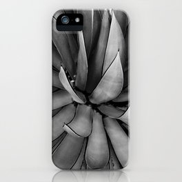 Black & White Agave iPhone Case