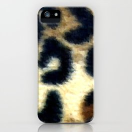 Exotic Spotted Leopard Print  iPhone Case