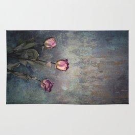 Three Dried Roses III Rug