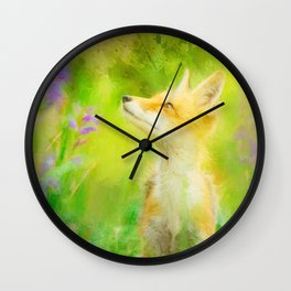 Enchanted Fox Wall Clock