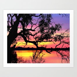 Lake Bonney Sunset Art Print
