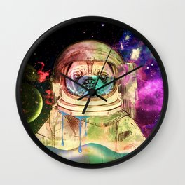 Astronaut Pug COLOR Wall Clock