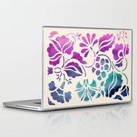 vintage floral Laptop & iPad Skins featuring Vintage Floral by Jacqueline Maldonado