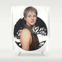 divergent Shower Curtains featuring The Divergent Series: Insurgent - Tris | Drawing by CorySimpsonArt