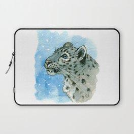 Snow Leopard & snowflakes 860 Laptop Sleeve