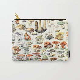 Adolphe Millot - Champignons B - French vintage poster Carry-All Pouch