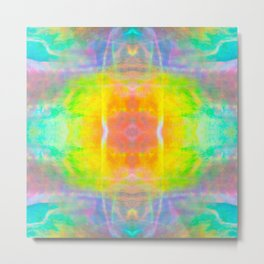 Prisms Play of Light 1 Mandala Metal Print