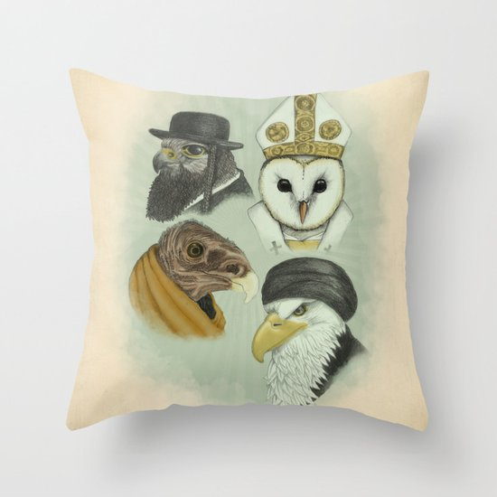 Birds of Pray Throw Pillow