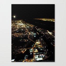 """Los Angeles Bird's Eye"" (2013) Canvas Print"