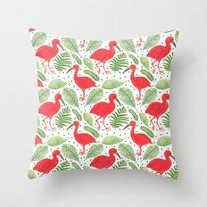 The Beautiful Scarlet Ibis Throw Pillow