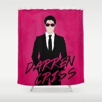 darren criss Shower Curtains featuring Pink Darren Criss by byebyesally