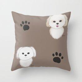 Pattern of Pups Throw Pillow