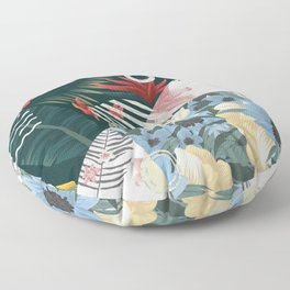 Floral Memphis Floor Pillow