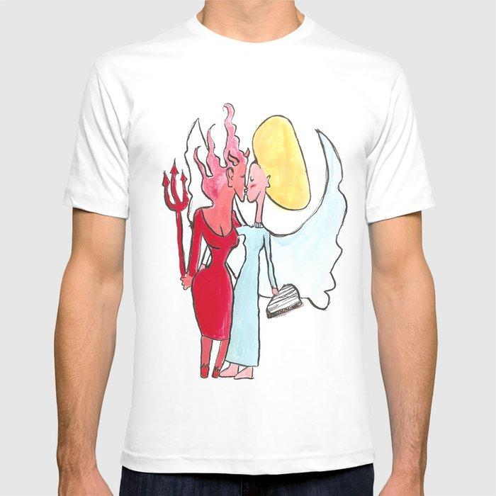 Amusing Angel and devil lesbian congratulate, simply