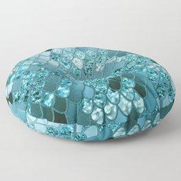 Mermaid Glitter Scales #4 #shiny #decor #art #society6 Floor Pillow