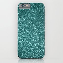 Sparkly Aqua Blue Turquoise Glitter iPhone Case