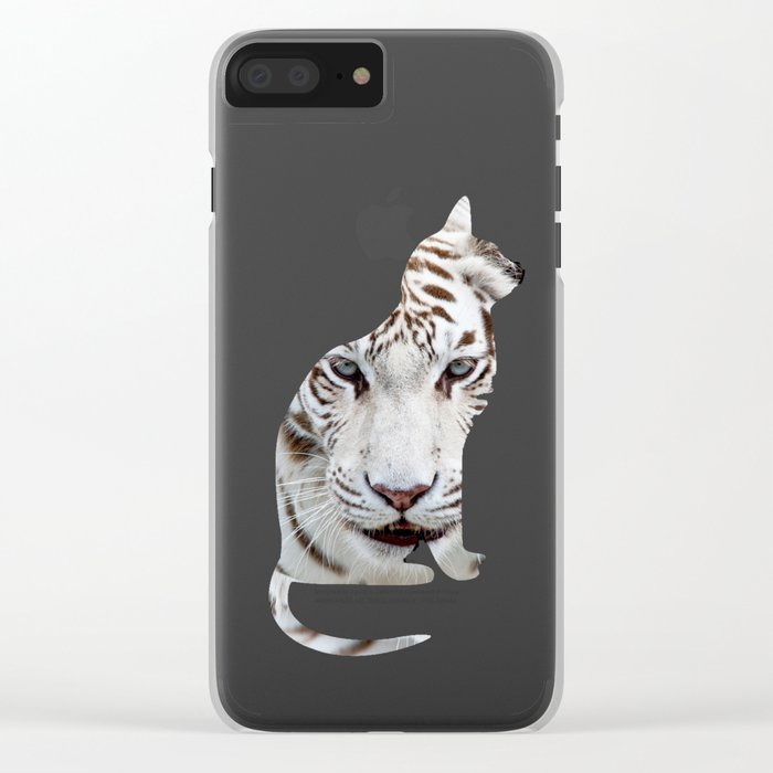 BIG AND SMALL CAT Clear iPhone Case