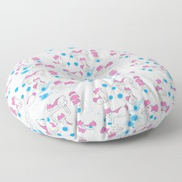 Mina pompon and the wool elbow Floor Pillow
