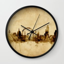 London England Skyline Wall Clock