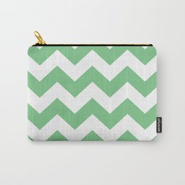 Sage Chevron Carry-All Pouch