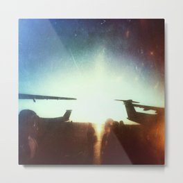 Sea-Tac At Sunset Metal Print