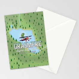 Grasmere English Lake District vintage map Stationery Cards