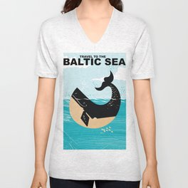 Baltic Sea travel poster Unisex V-Neck
