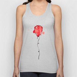 Red Balloon Unisex Tank Top