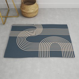 Lines in Midnight Rug