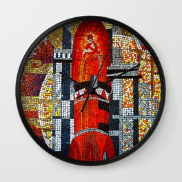 Spaceships Will Cross The Sky Wall Clock
