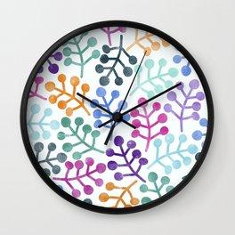 Flower Pattern IV Wall Clock