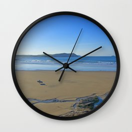 The Lone Surfer Wall Clock