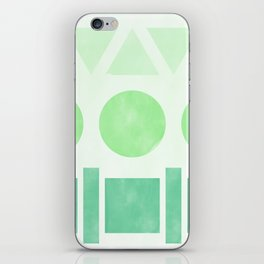 Green Shapes iPhone Skin
