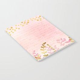 Orchid pink - golden rainforest Notebook