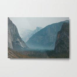 Yosemite Valley Tunnel View Metal Print